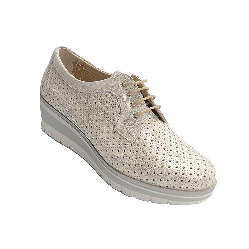 Zapato Deportivo Mujer Calado con Cordones Pitillos en Metalizado Talla 39: Amazon.es: Zapatos y complementos