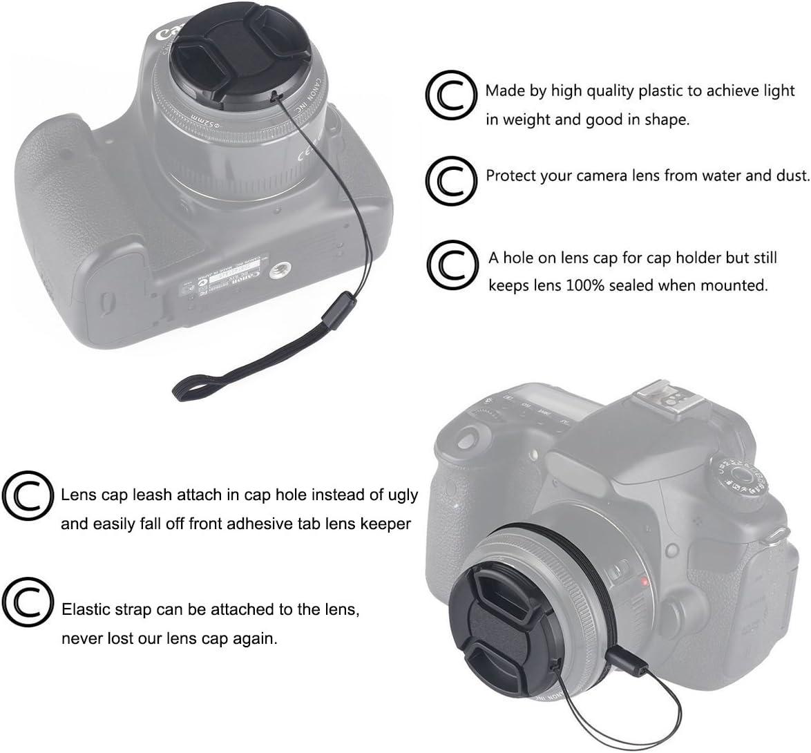 3PCS 55mm Tapas de Objetivo, Tapas de Objetivo para Nikon D3400 ...