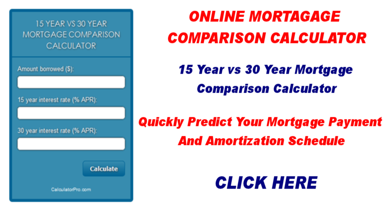 mortgage amortization comparison calculator