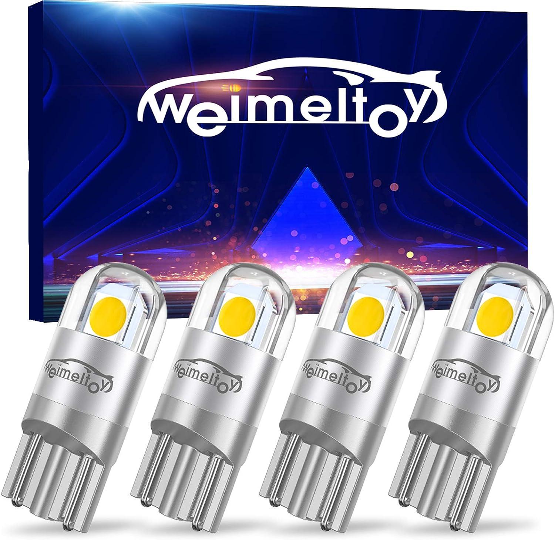 ampoules de rechange pour ampoules dint/érieur /éclairage lat/éral Fulintech Lot de 10 ampoules LED T10 W5 W 3030 puce 3SMD pour int/érieur de voiture feux de stationnement