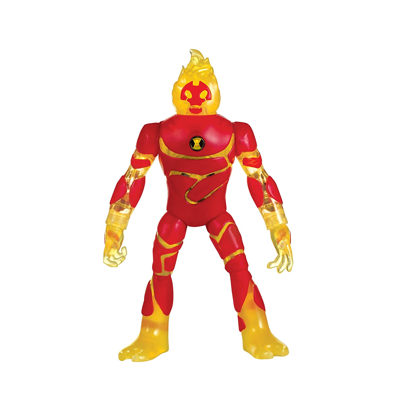 Ben 10 Power up Heatblast Deluxe Action Figure Playmates - Toys 76601