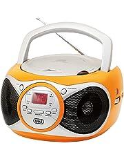 Trevi CD 512 Lettore CD Portatile con Radio e AUX-IN, Arancione