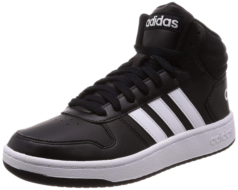 Noir (Negbás Ftwbla Negbás 000) adidas Hoops 2.0 Mid, Chaussures de Fitness Homme 41 1 3 EU