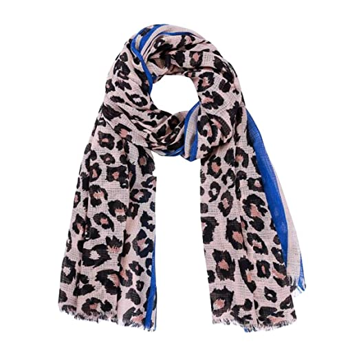 e07c548ae Large Cool Leopard Printed Scarf Wrap: Lightweight Soft Shawl for Women  (Blue) at Amazon Women's Clothing store: