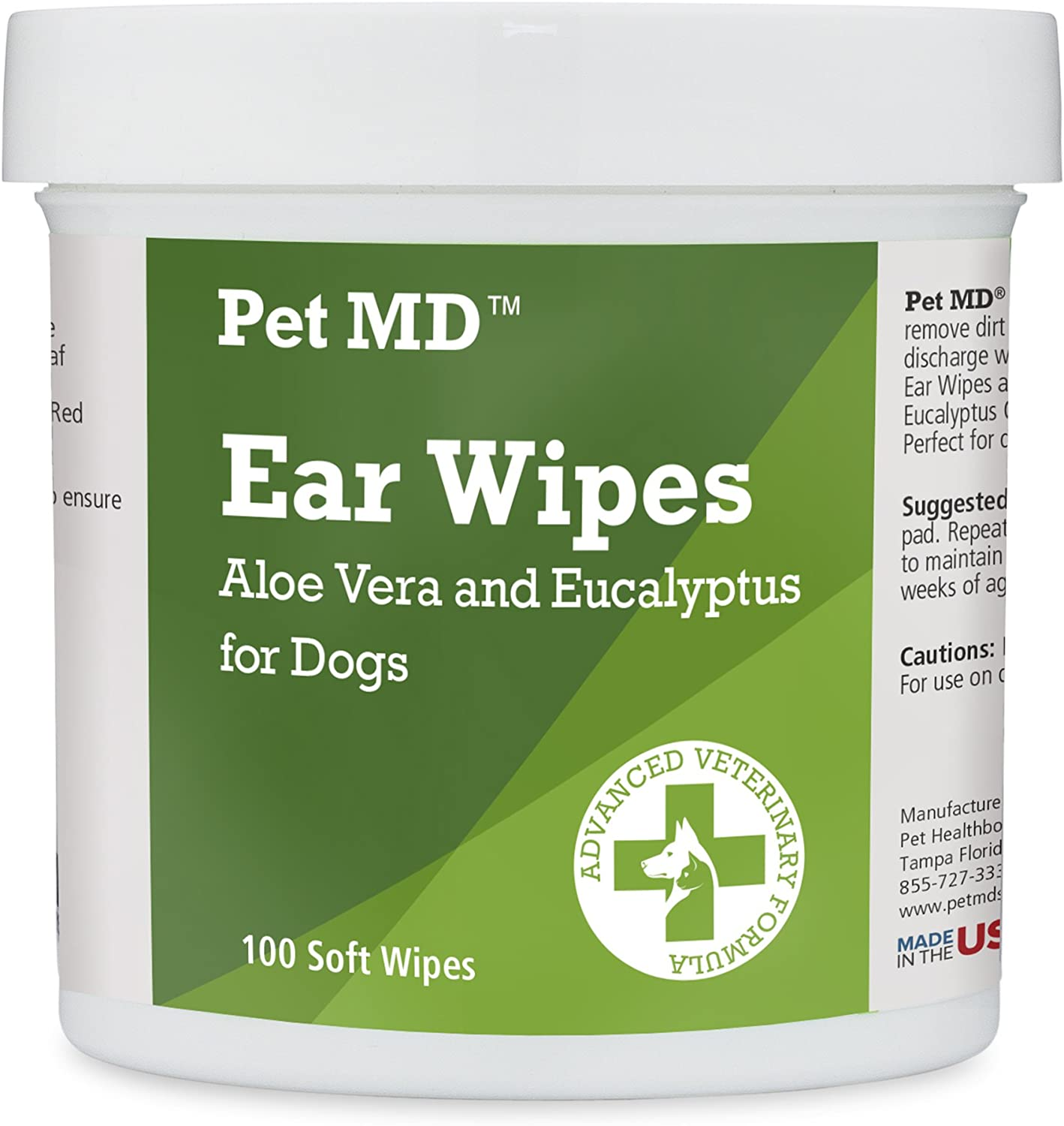 Pet MD Ear Wipes for Dogs