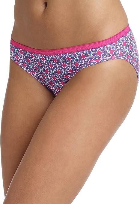 Hanes mujer, 6 Pack 100% algodón Bikini ropa interior bragas, varios colores 9: Amazon.es: Deportes y aire libre