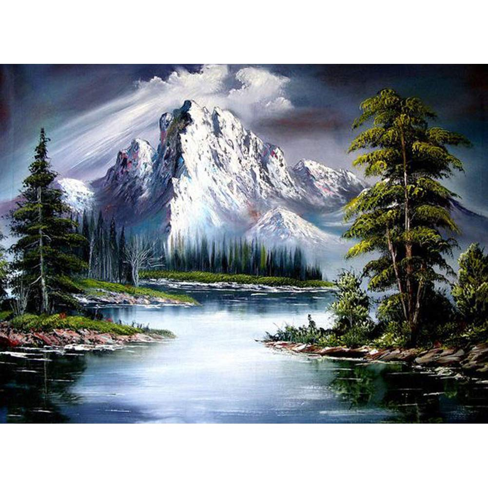 DIY Rhinestone Embroidery Cross Stitch Arts Craft for Home Wall Decor Gift landscape 40x30cm 5D Diamond Painting Kits Full Drill