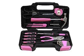 Rosa Tool Kit Werkzeugtasche Diy Set Enthalt Rosa Hammer Rosa
