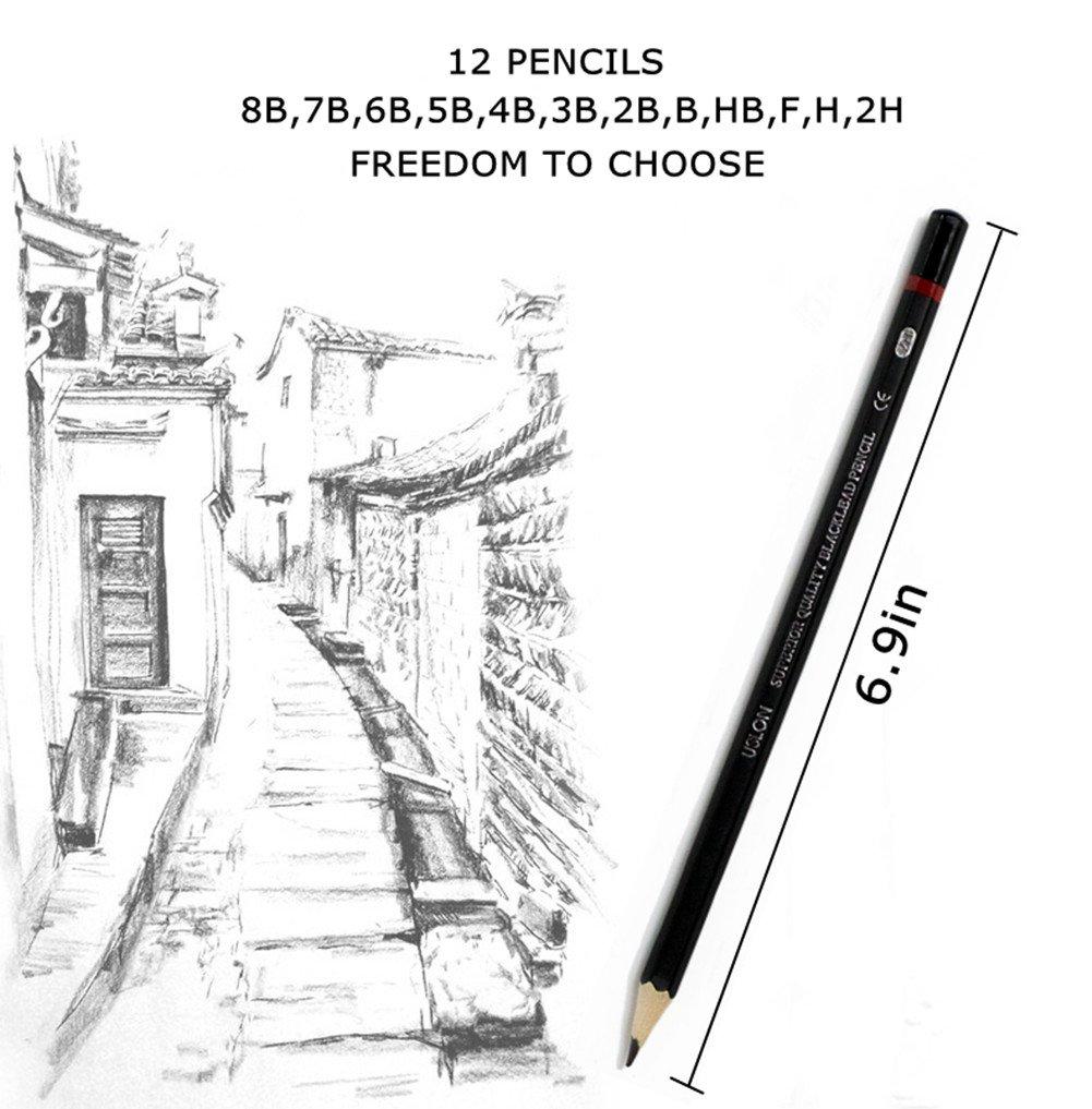 Amazoncom Professional Sketch And Drawing Pencils Setart Pencil