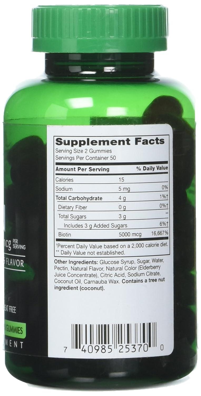 Amazon.com: Puremark Biotin Gummies Vegetarian Gummies, 5000 mcg, Strawberry, 100 Count: Health & Personal Care