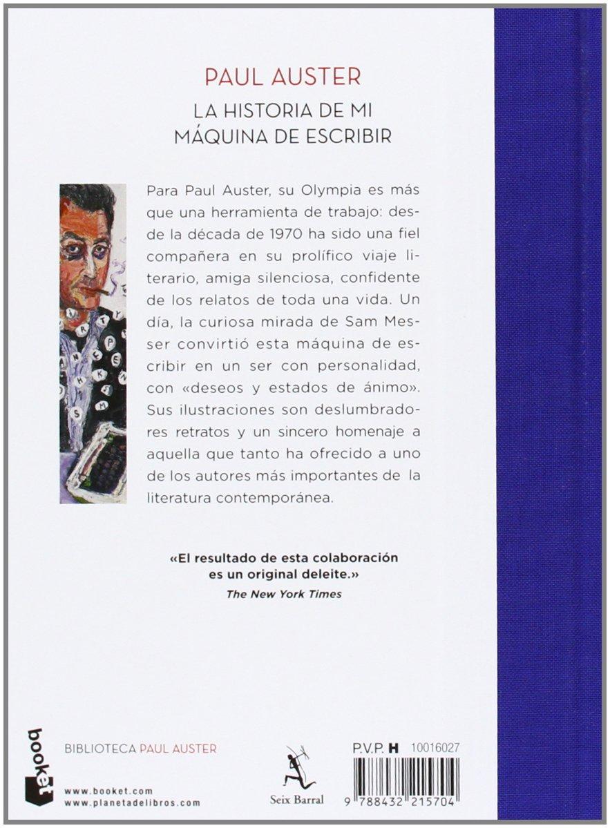 La historia de mi máquina de escribir Biblioteca Paul Auster: Amazon.es: Paul Auster, Benito Gómez Ibáñez: Libros
