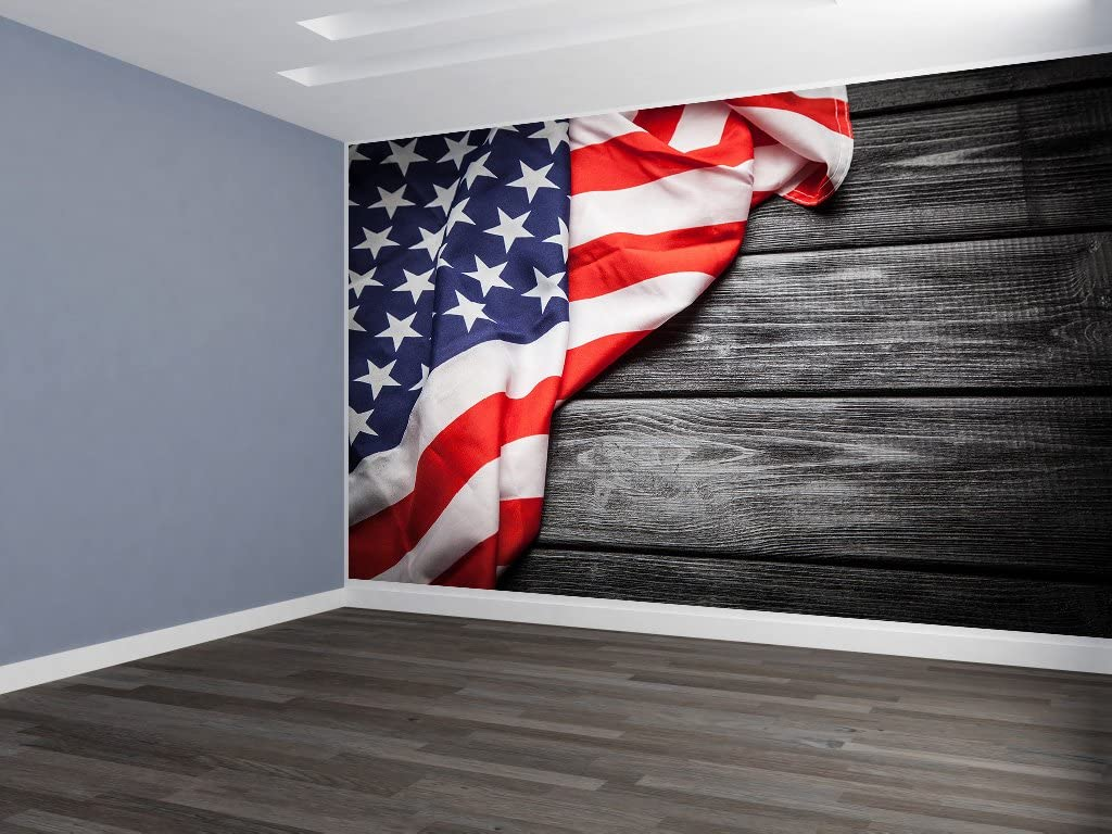 Amazon Com Easy Install American Flag On Weathered Wood Siding Hp