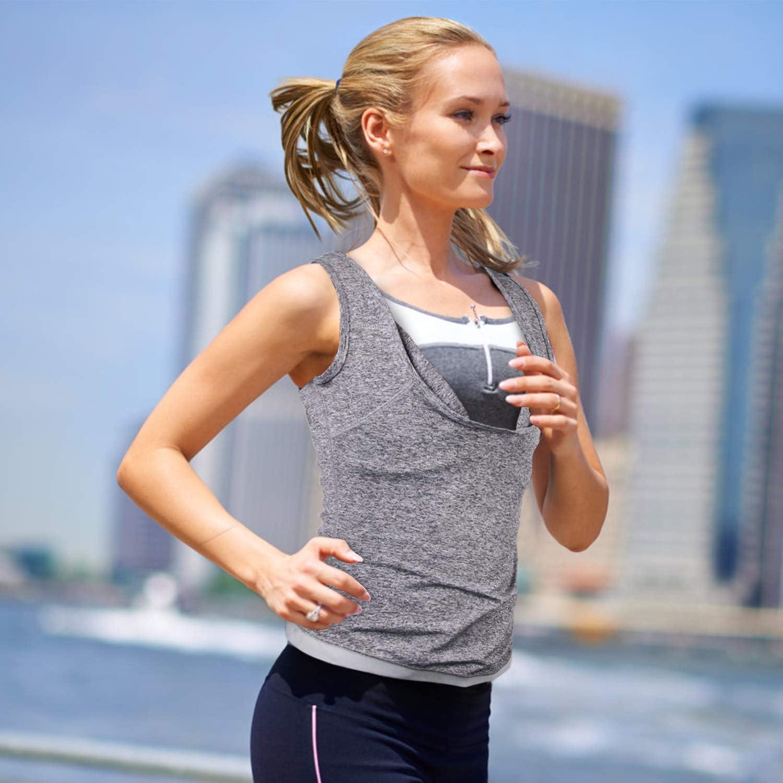 Melange, XXLarge-XXXLarge Hirdou Women/'s Slimming Workout Sauna Tank Top Shapewear for Weight Loss