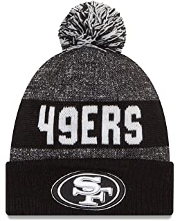 22a23c144d2 ... sale san francisco 49ers new era 2016 nfl sideline sport knit hat black  white 79d8e 70fcd ...