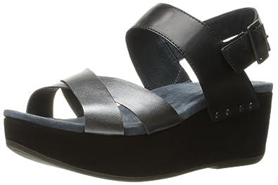 3307dc15a99 Dansko Women s Stasia Platform Sandal Black Pewter Burnished 37 EU 6.5-7 M