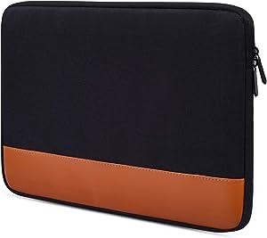 "14-15 Inch Waterproof Laptop Sleeve Case Compatible Acer Chromebook 14,Acer Aspire R 14,HP Stream 14,Dell XPS 15 9570,ASUS VivoBook Flip 14"",ASUS ZenBook 14"",LG Dell HP Acer Lenovo Notebook Bag,Black"