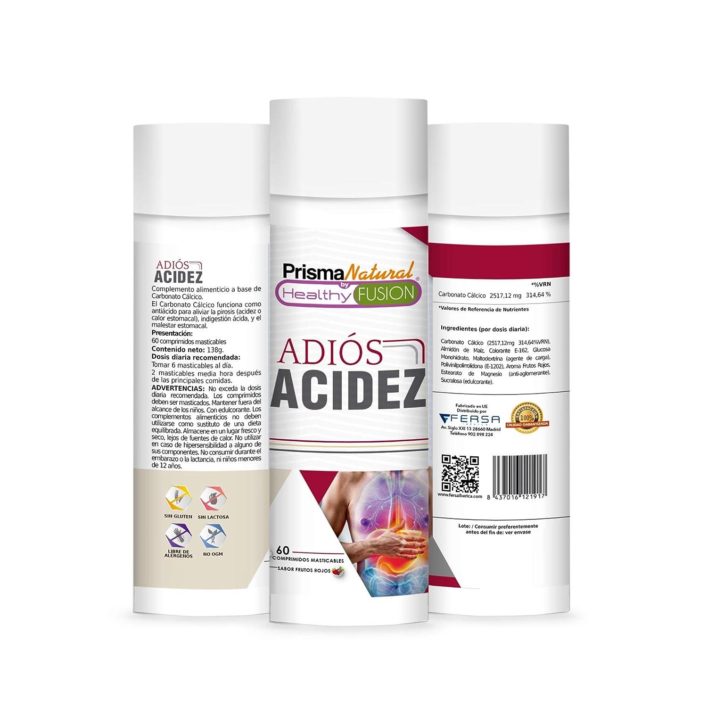 ADIÓS ACIDEZ | Potente Antiácido y Antirreflujo | Mejora la Salud Digestiva | Inhibe el Ácido Gástrico y Protege el Estómago | Mejora la Salud del Sistema ...