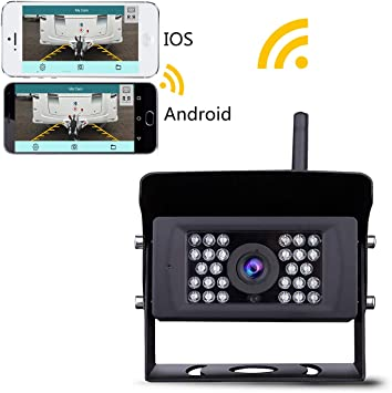 Amazon Com Wireless Backup Camera Lastbus Night Vision Wide View Angle Waterproof Wifi Rear View Camera For Iphone Ipad Android Phone Tablet Electronics