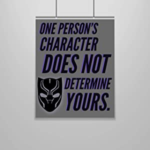 Zap Education Black Panther Quote Poster – 16 x 20 – Motivational – Inspirational – Growth Mindset – Classroom Decor – Marvel School – Quote Poster – Nursery – Children's Room – Wall Art