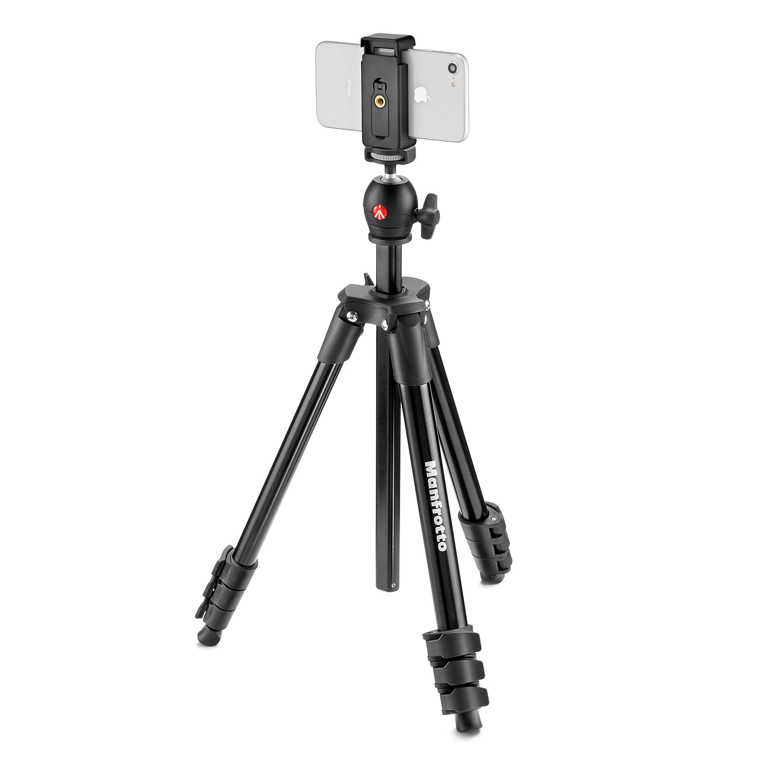 Manfrotto MKSCOMPACTLTBK Compact Light 51'' Smart Aluminum Tripod, Black by Manfrotto