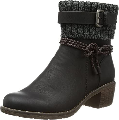 Rieker 99878 Damen Halbschaft Stiefel: : Schuhe uuX05