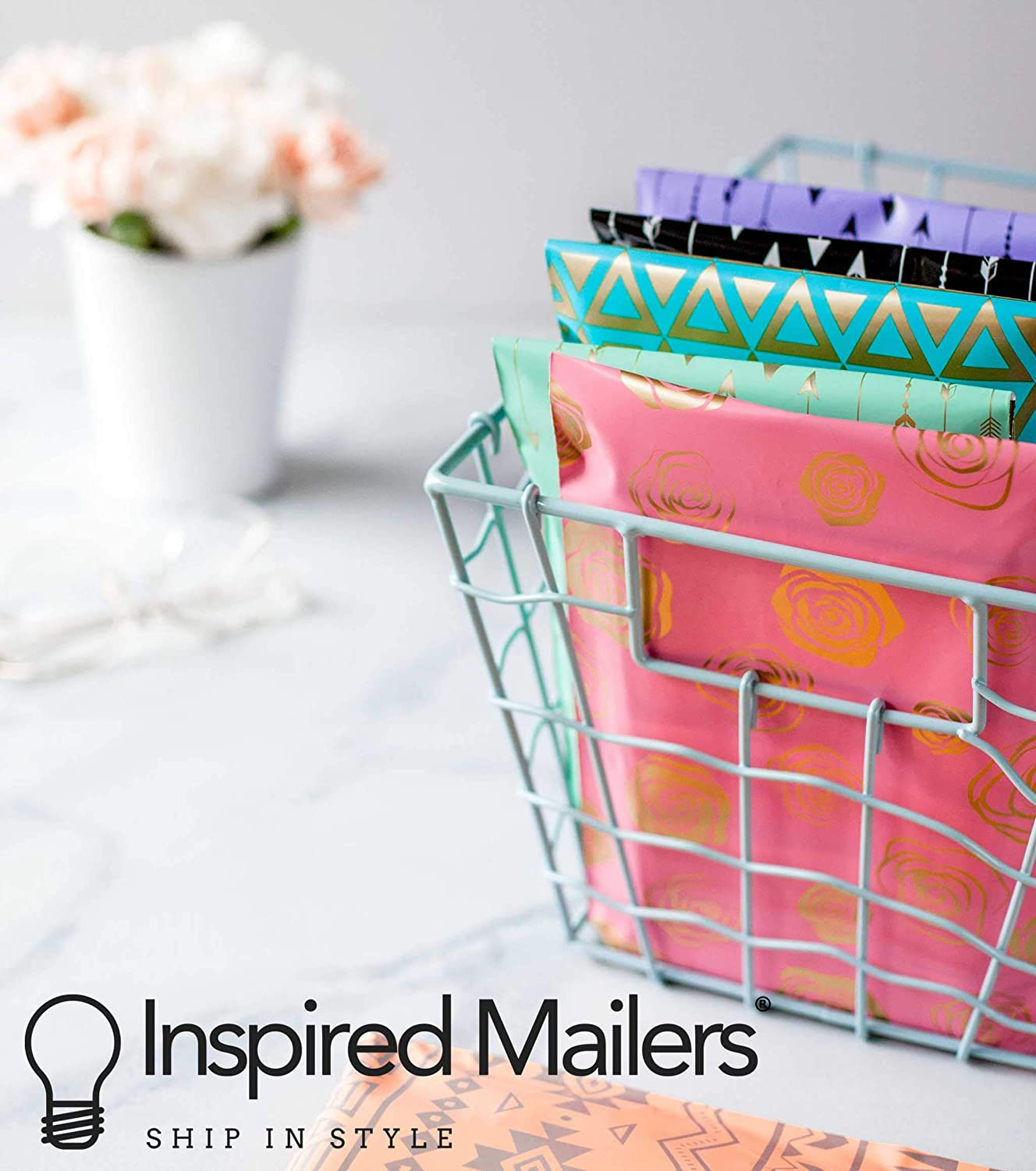 Choose Between 10x13 and 14.5x19 Sizes Inspired Mailers 100 Pack Red Buffalo Plaid 3.15mil Unpadded Shipping Bags Poly Mailers 10x13 10x13, 100 Pack
