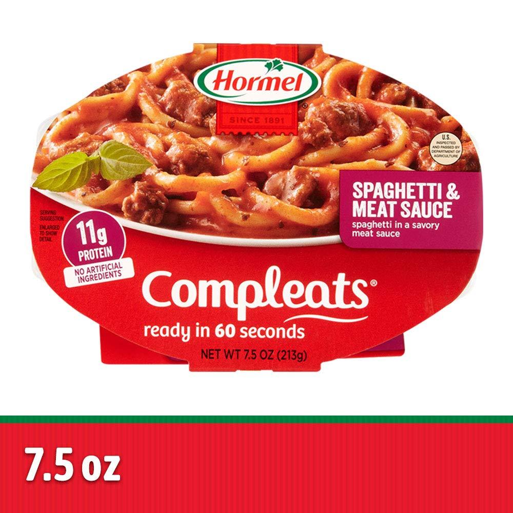 Hormel compleats salsas, espaguetis, 7.5 onza (Paquete de 7 ...