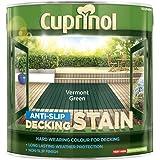 Cuprinol 2.5L rutschfeste Sonnendeck Fleck–Vermont Grün