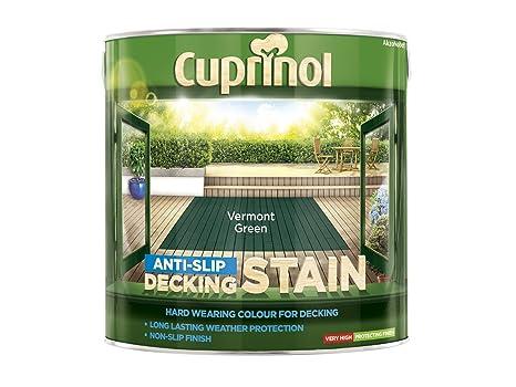 Pintura antideslizante Cuprinol, para terrazas de madera, verde Vermont (2,5 l