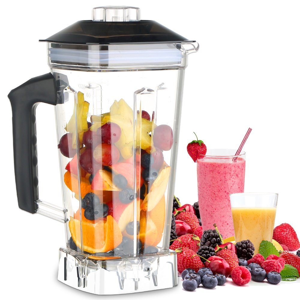 MengK Professional Industrial Kitchen Blender Jar 2L for HS200-D(Only for 1400W, not for 2000W)