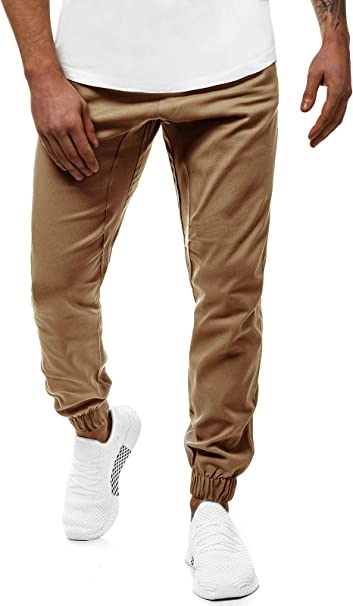 OZONEE Herren Chino Hose Chinos Lang Stoffhose Jogger Chinohose Pants Cargohose Cargo Freizeithose Arbeitshose Sporthose Slim Fit Regular Casual