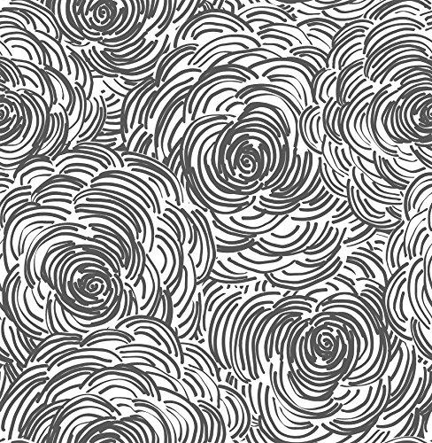 A-Street Prints 2716-23833 Celestial Black Floral Wallpaper,