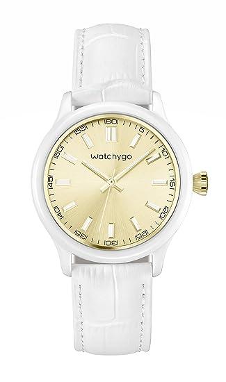 Watchygo : Relojes de Mujer Acuáticos - Reloj de Pulsera de Señora Para Vestir, Oro
