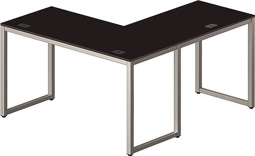 SHW Home Office 55″x60″ Large L Shaped Corner Desk