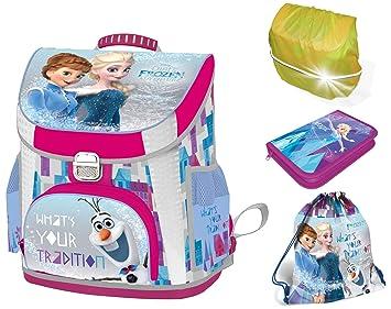 SCOOLSTAR Frozen-SET-4t - Set de útiles Escolares Rosa-Blau Frozen-4teilig: Amazon.es: Equipaje