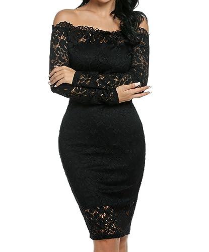 pagacat -  Vestito  - Sera  - Donna nero L