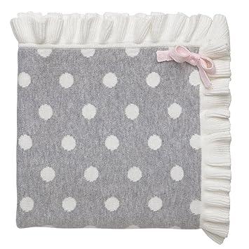 30 x 30 Mini Gray Stripes Elegant Baby 100/% Cotton Tightly Knit Blanket