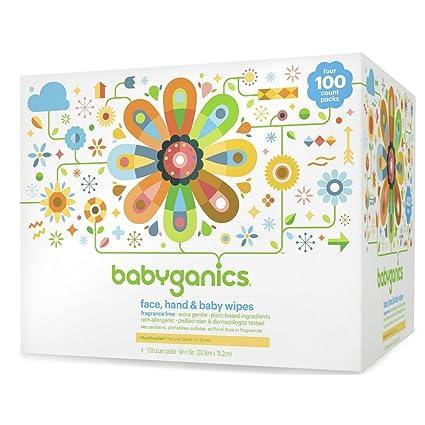 BabyGanics - cara, manos y bebé toallitas fragancia gratis - 400 Wipe(s)