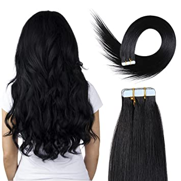 Amazon 20 inch skin weft tape hair extensions 100 remyremi 20 inch skin weft tape hair extensions 100 remyremi straight human hair pmusecretfo Image collections