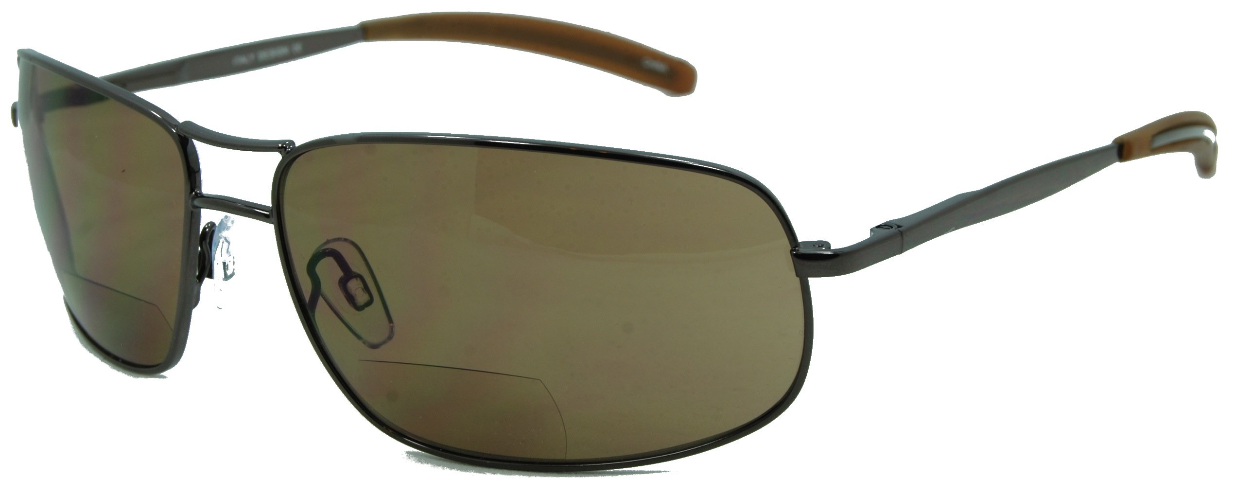 In Style Eyes Ace in the Hole, Nearly No Line Bifocals Sunglasses Work Perfectly for any Outdoor Activity/Brown 2.00 by In Style Eyes