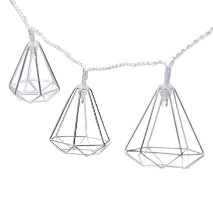 Amazon Com Elements Led String Light Silver Geo Home Kitchen