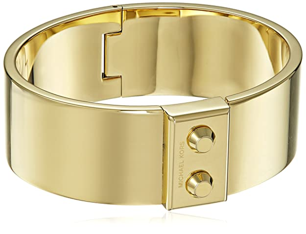Amazon Com Michael Kors Hamilton Gold Tone Bangle Bracelet Jewelry