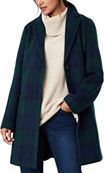 Joules Costello Check Wool Coat