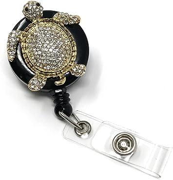 Teacher Nurse Gifts Badge Clips Alligator Swivel Clip ID Badge Holder Best Gift Idea Rhinestones Brooch Retractable ID Badge Reel
