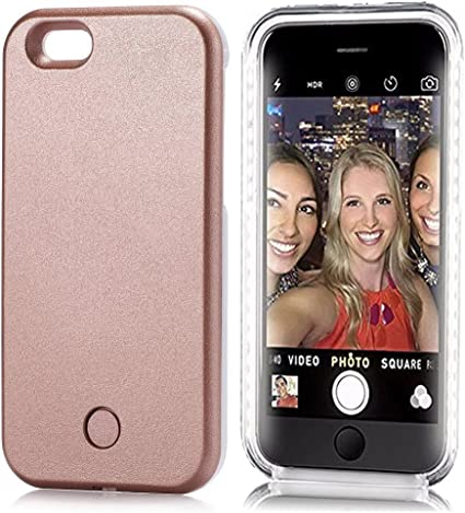 iPhone 7 Custodia, Cover protettiva illuminato con luce a LED ...
