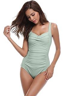 7729b196f16b3 SHEKINI Bikini Femme Body Guide Push up Maillots de Bain Femme 1 Pièce  Monokini Rembourré Beachwear