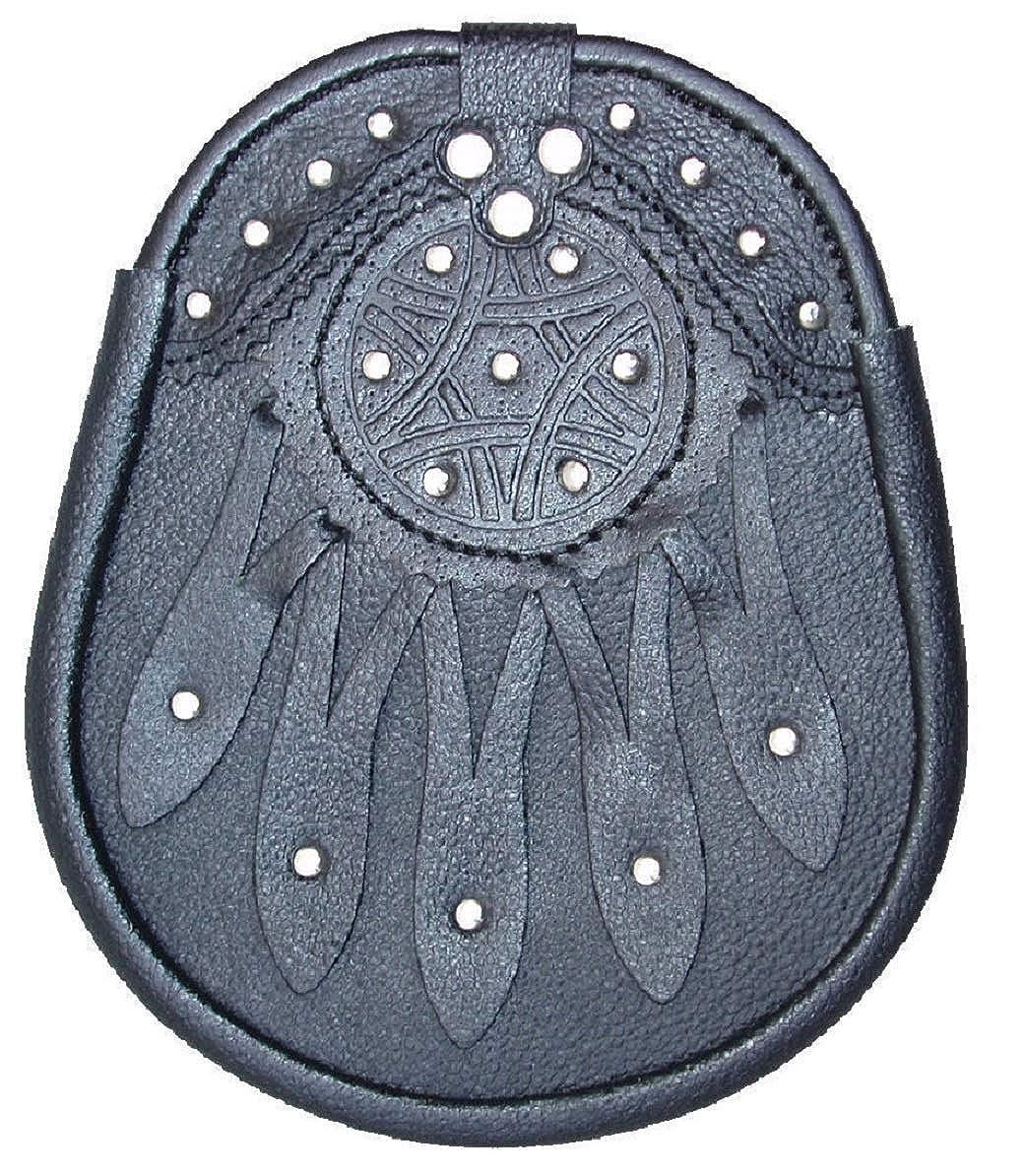 Nuevo Celta Diseño Cuero Negro Sporran con S/CADENA Falda Escocesa ...