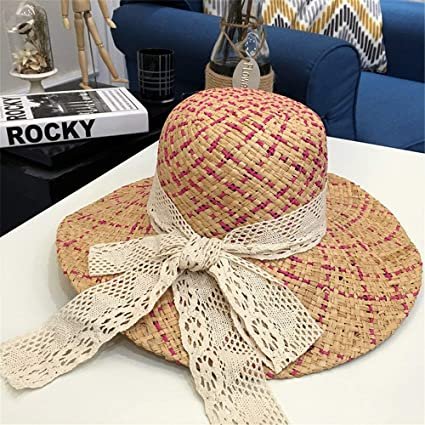 Eeayyygch Sombrero de Sol Sombrero de Paja Sombrero Redondo Grande Sombrero  de Sol Sombrero de Playa fb0a37d7aea