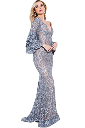 Jovani Prom 2018 Dress Evening Gown Authentic 57048 Long Silver