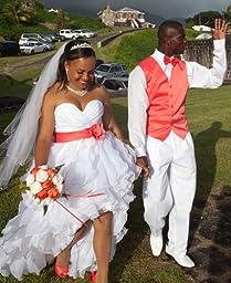 Men's Dress Vest & BowTie Solid CORAL PINK Color Bow Tie